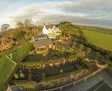 Wollaston Lodge from the air