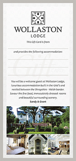 Wollaston Lodge Gift Card