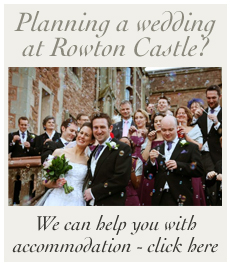Rowton Castle wedding accommodation at Wollaston Loadge
